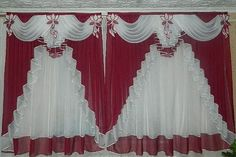 37 Cute Curtains Decor Ideas To Copy Now Diy Bay Window Curtains, Swag Curtains, Cute Curtains, Curtains And Draperies, Elegant Curtains, Drapery Fabric, Tulle Tablecloth, Tulle Table Skirt, Living Room Decor Curtains