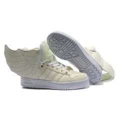db7ce4165001a JS Women's adidas ObyO Jeremy Scott Wings 2.0 Shoes - Fluorescent White