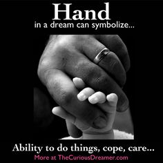 A hand as a dream symbol can mean...  More dream symbol meanings at TheCuriousDreamer...  #dreammeaning #dreamsymbol