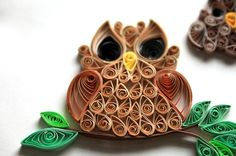 Quilled owls-- cute.