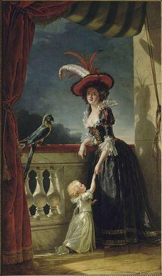 The Athenaeum - Portrait of Louise-Elisabeth of France with Her Son (Adélaïde Labille-Guiard - )