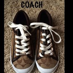Coach Sneakers Brown/Gold coach sneakers. Brand New w/o box. Coach Shoes Sneakers