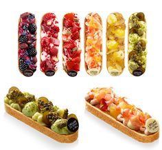 Eclairs - the next trend! Eclairs, Patisserie Fine, Beautiful Desserts, Dessert Buffet, Baking And Pastry, Mini Cakes, Food Design, Food Plating, Food Photography