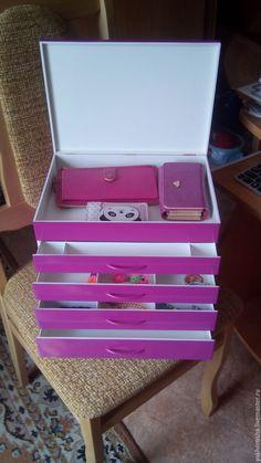 Купить Мини-комод шкатулка Фламинго - мини-комод, шкатулка купить, купить мини-комод