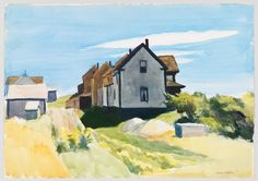 Group of Houses,  Edward Hopper, 1923-1924