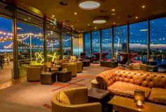 skylounge bar with view of amsterdam