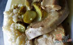 Krůtí znojemská s rýži   NejRecept.cz Pickles, Cucumber, Sausage, Steak, Pork, Kale Stir Fry, Sausages, Steaks, Pickle