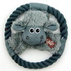 Brinquedo para Cães Disco Voador Ovelha Lambswool Cuddle Afp - MeuAmigoPet.com.br #petshop #cachorro #cão #meuamigopet