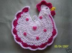 Image detail for -crochet con mis manos: y algo mas. Crochet Placemats, Crochet Potholders, Crochet Toys, Crochet Stitches Free, Free Crochet, Crochet Patterns, Crafty Projects, Crochet Projects, Crochet Chicken