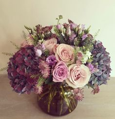 Form: Hydrangea are the mass flowers Tulips are filler flowers Green things are greenery