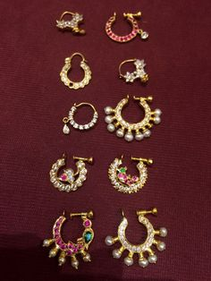 39 Ideas indian bridal nose ring hindus for 2019 Nose Ring Jewelry, Gold Nose Rings, Septum Ring, Nath Nose Ring, Nose Stud, Diamond Jewellery, India Jewelry, Temple Jewellery, Nose Ring Designs