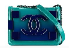 I love the ombre ocean colors of this bag! Chanel Small Boy Lock Flap Bag