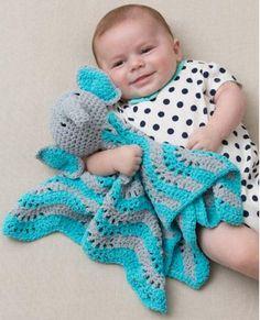 Little Elephant Baby Blanket Crochet Pattern | AllFreeCrochetAfghanPatterns.com