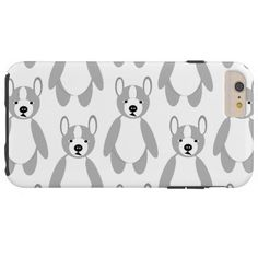 Cute cuddly and Lovable Boston Terriers Tough iPhone 6 Plus Case