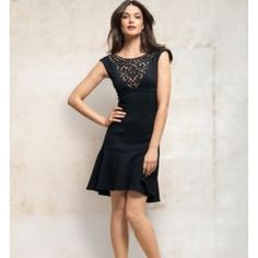 NWT Cache Black Contour Laser Cut Dress Size  M Cache New with tags Contour Laser cut at top   above the knee   Black size M Cache Dresses