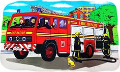 Everyone #loves a #fire engine, this one just #rescued a #cat. #education #wooden #madeinbritain #Educational #Business #familybusiness #Family #wooden #British #Handmade #Children #gifts #toys #Christmas #jigsaw #puzzles #children #parenting #parents #childhood #animals #wildlife #animalkingdom #sights #views #british #england #derby #madeinengland #madeinbritain