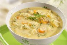 Zupa kalafiorowo-serowa / Cauliflower-cheese soup www. Cauliflower Cheese Soups, Polish Recipes, Polish Food, Cheeseburger Chowder, Food And Drink, Healthy Recipes, Healthy Food, Pork, Dinner