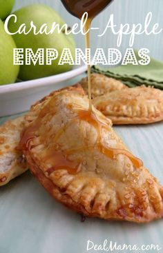 Mini Caramel Apple Empanadas Recipe! - https://dealmama.com/2015/04/mini-caramel-apple-empanadas-recipe/