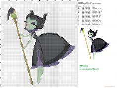 Maleficent cross stitch pattern  (click to view)