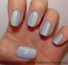 racing stripe nails - Google Search