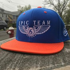 Welcome to the family! We have a new edition to our hat collection. We're offering the Blue Orange & White Signature Logo Snapback #epicteam6 #clothing #culture #independent #brand #urban #street #nyc #skatelife #streetwear #custom #design #fashion #icon #waves #fly #fresh #business #entrepreneur #dope #music #hiphop #legacy #tradition #ambition #determination #waves #paperchaser