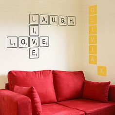 Personalised Letter Tile Wall Sticker