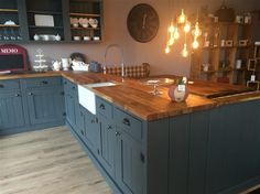 Farrow & Ball - Down Pipe 26 - kitchen cabinets painted in Down Pipe