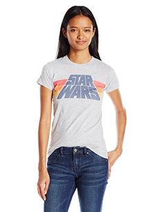 Star Wars Juniors Slant Logo Stripe Graphic Tee @ niftywarehouse.com #NiftyWarehouse #Geek #Products #StarWars #Movies #Film