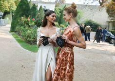 Emily Ratajkowski in Brock Collection and Natalia Vodianova in Dior