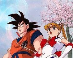 Goku and Sailor Moon