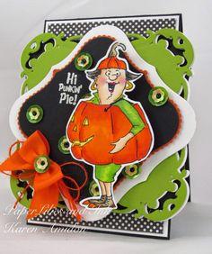 ART IMPRESSIONS  Punkin Pie Set (Sku#4520) Handmade Halloween Set.