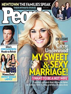 Carrie Underwood Lands People Magazine Cover -- Click here to read excerpts from the interview.