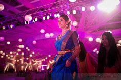 traditional blue pattu saree