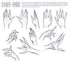helpyoudraw: Clawed Hands Reference by ABRZA from DeviantArt