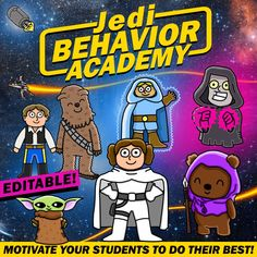 Do you want to motivate your students to do their best? I have been using this behavior management system for a long time. My kids love feeling as if they were Star Wars characters!!