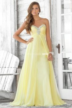 Chiffon Beaded With Pleats Empire Draping Prom Dress picture 1