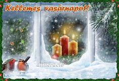 "Christmas Greetings Animated Pictures ""Christmas Season's Greetings"" New Year Holidays, Christmas And New Year, Christmas Holidays, Holiday Candles, Christmas Candle, Lincoln Birthday, Christmas Trimmings, Christmas Scenery, New Year Photos"