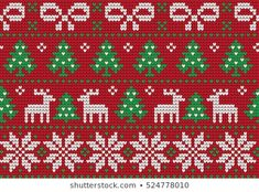 Knitted Christmas New Year Pattern stockvector (rechtenvrij) 525749170 Beginner Knitting Patterns, Fair Isle Knitting Patterns, Knitting Charts, Knitting For Beginners, Baby Knitting, Beaded Christmas Ornaments, Christmas Cross, Christmas And New Year, Cross Stitch Beginner