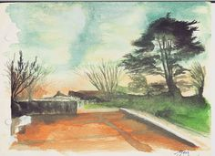 Old piece I guess I can see my improvement now. Remember this? in front of the library the big old pines and the dining haul in the sunset. Can you pay my LINC classes money back? they are literaly lies. @lincolnuni  #artistic #newzealand #artoftheday #art #artist #draw #sketch #drawing #instaart #painting #vsco #watercolour #watercolor #photooftheday #university #landscape #worldofpencils #fintech #instalike #vscocam #beautiful #talent #sketching #creative #artwork #love #instadraw…