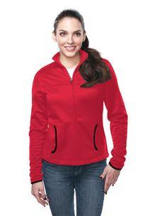 FL7260 Women's 6.5 oz lightweight polyester performance fleece jacket featuring TempUp™ heating technology.