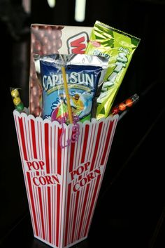 Drive-In slumber party movie snack idea! Cute idea for slumber party 10th Birthday Parties, Slumber Parties, Birthday Fun, Birthday Ideas, Slumber Party Snacks, Birthday Gifts, Sleepover Activities, Birthday Recipes, Carnival Birthday