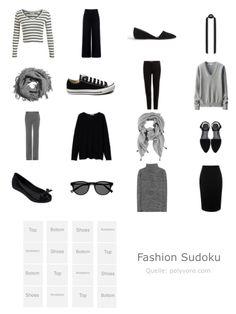 Tolle Idee bei schneiderherz.blogspot.de - ein Kleiderschrank-Sudoku.  Für die Reisegarderobe sicher hilfreich!