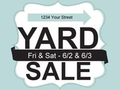Free Customizable Printable Yard Sale Signs & Price Tags ~