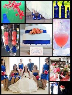 Inspiring Brides: Inspiration 202: Spunky Cobalt and Coral