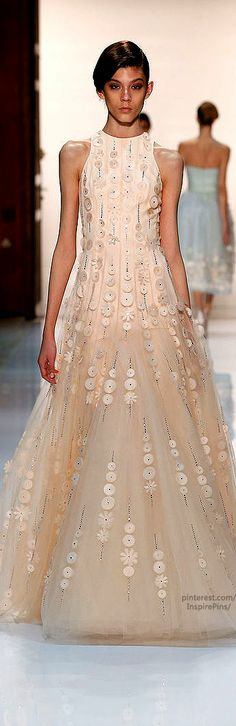 Georges Hobeika Couture Spring-summer 2014...love except I think this would look better as a skirt or sweet heart finish on top.  Stunning details!