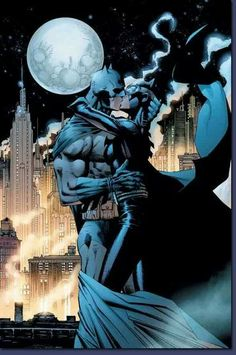 Splash page from Batman: Hush by Jim Lee
