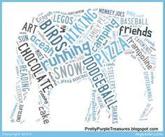 DIY Word Art- Free and EASY   http://prettypurpletreasures.blogspot.com/2013/10/diy-wall-art-easy-and-cool.html