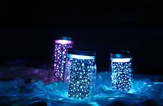 Glowing Mason Jars
