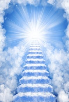 Photo about Ascending stairway to heaven through clouds. Image of birds, clouds, gate - 13547389 Heaven Pictures, Jesus Pictures, Heaven Images, Stairway To Heaven, Stairs To Heaven Tattoo, Background For Photography, Background Images, Images Ciel, Heaven Tattoos
