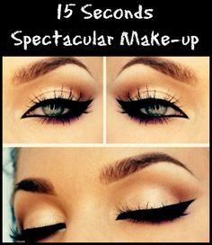 15 Sec Spectacular Eyeliner Make-up | www.imbiutiful.com
